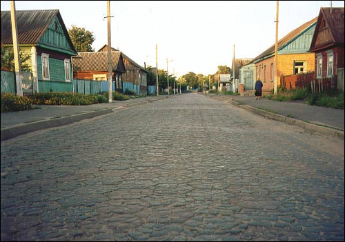 Davyd-Haradok. Town streets