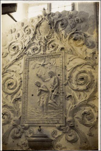 - Костёл Святого Архангела Михаила. Интерьер, фрагмент (фото А. Анимуцкого, 1938 г.)