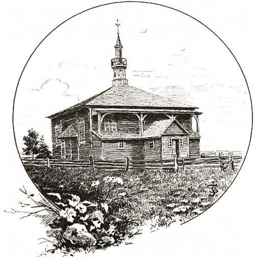 - Мячэць . Мячэць у Мураўшчыне на малюнку канца XIX ст.