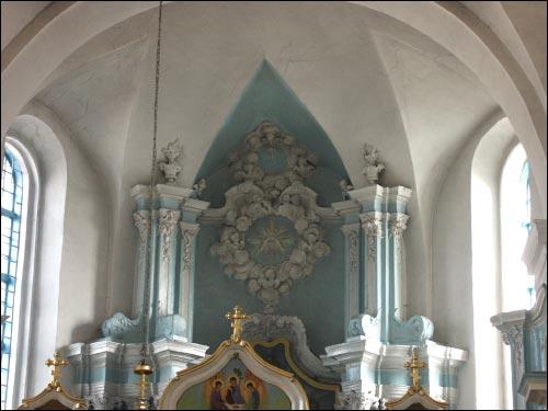 - Царква Святой Тройцы. Фрагмент галоўнага алтара