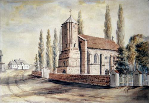 - Catholic church of St. Michael the Archangel. Drawing by N. Orda
