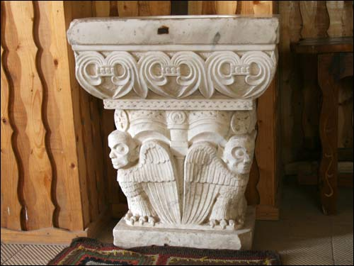 - Catholic church of St. Michael the Archangel. Gothic stoup for holy water