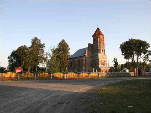 - Catholic church of St. Michael the Archangel. View from the road