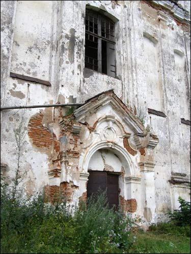 - Касцёл Святога Мікалая. Галоўны фасад, фрагмент. 07.2008