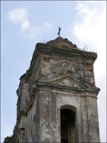 - Касцёл Святога Мікалая. Вежа, фрагмент, 07.2008