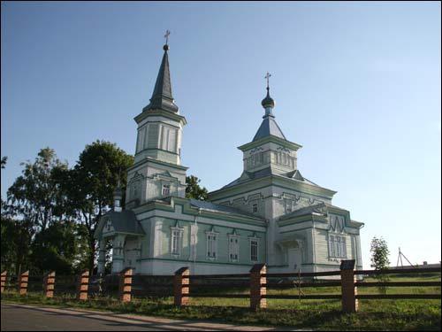 - Cerkiew św. Jerzego. Fasada południowa i zachodnia