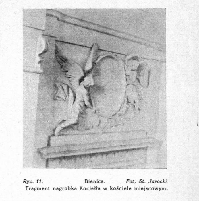 - Касцёл Святой Тройцы. Фрагмент надмагіллля Коцела. Фота да 1929 года. Надрукавана ў часопісе