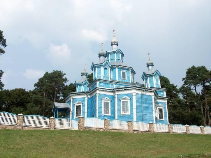 - Cerkiew Opieki Matki Boskiej. Cerkiew Opieki Matki Boskiej w Chotlanach. Fasada główna i boczna