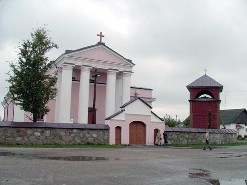 Daŭhinava. Catholic church of St. Stanislaus