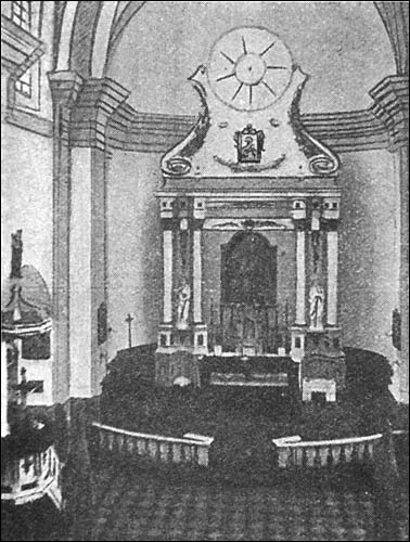 - Касцёл (руіны). Галоўны алтар, здымак да 1913 г.
