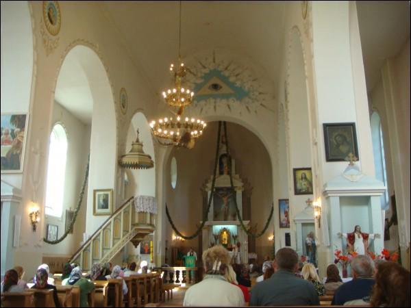 - Kościół Niepokalanego Poczęcia NMP. Wnętrze, fragment