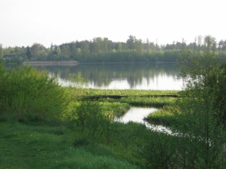 -  Канал Агінскага. Агінскі канал пры ўваходзе ў Вулькаўскае возера