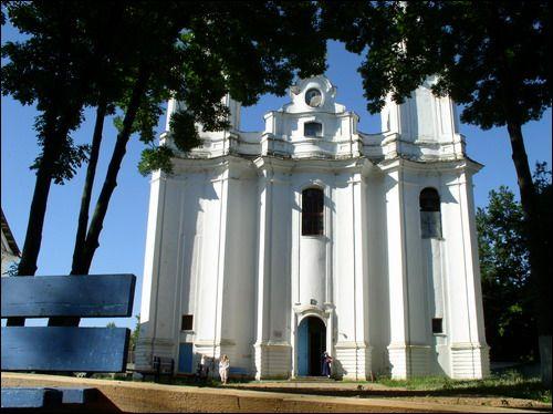 Церковь Покрова Пресвятой Богородицы (город Толочин). Главный фасад, фрагмент