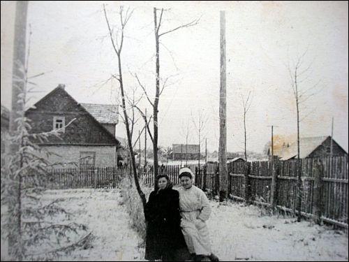 - Местечко на старых фотографиях . Ул.Вильняус(вид от больницы,конец 1950гг)