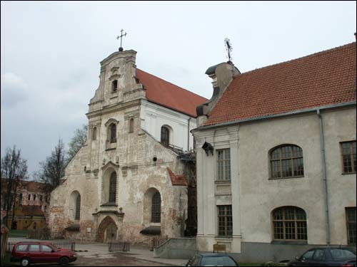 Vilnius. Catholic church of the Assumption of the Blessed Virgin Mary and the Monastery of Franciscan
