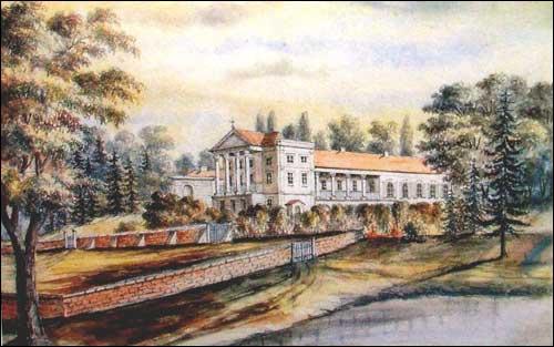 - . Belozorka (Ukraine). Brzostowski estate