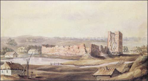 - . Kreva (Belarus). Ruins of the castle