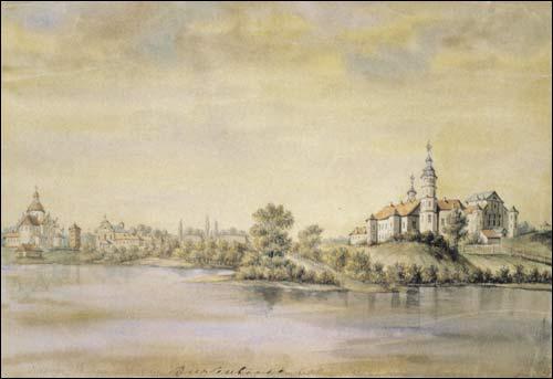 - . Niaśviž (Belarus). Radzivił (Radziwiłł) castle and the catholic church