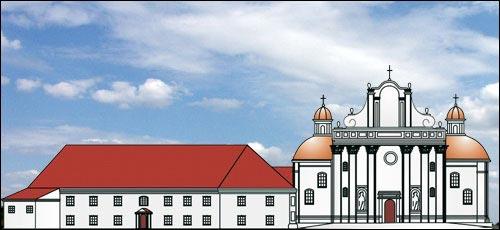 - Касцёл Святой Сафіі й кляштар дамініканаў. Галоўны фасад