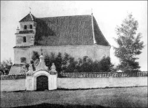 - Кальвінскі збор . Кальвінскі збор у Асташыне. Здымак Яна Булгака 1910-х г.