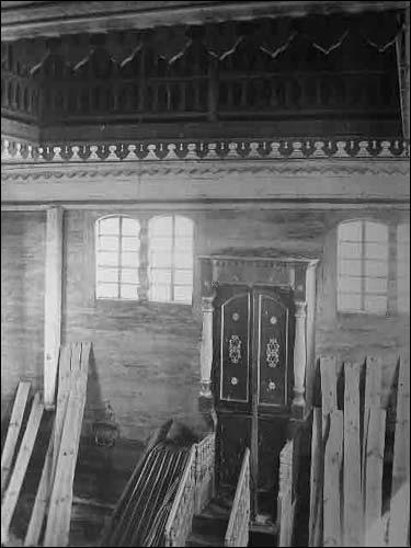 - Сінагога . Інтэр'ер. Фрагмент. Здымак Ш. Зайчыка (1930 г.). (www.szukamypolski.com)