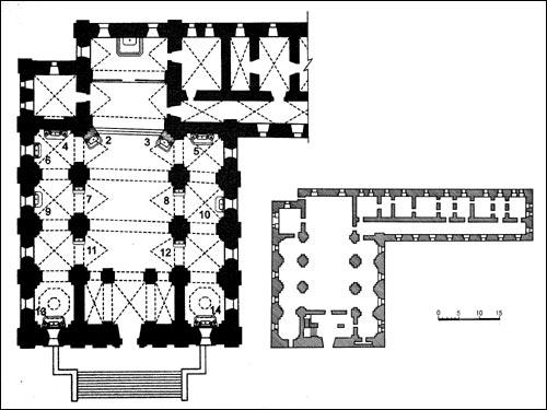 - Kościół i klasztor Dominikanów. Plan kompleksu kościelnego