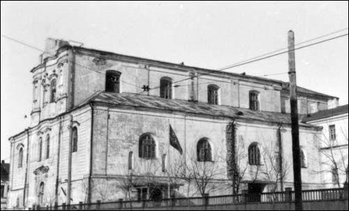 - Kościół i klasztor Dominikanów. Fasada boczna, zdjęcie 03 1943 r, dr. Nerling