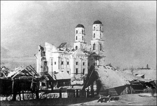 - Kościół i klasztor Dominikanów. Kościół; stan po II wojnie światowej