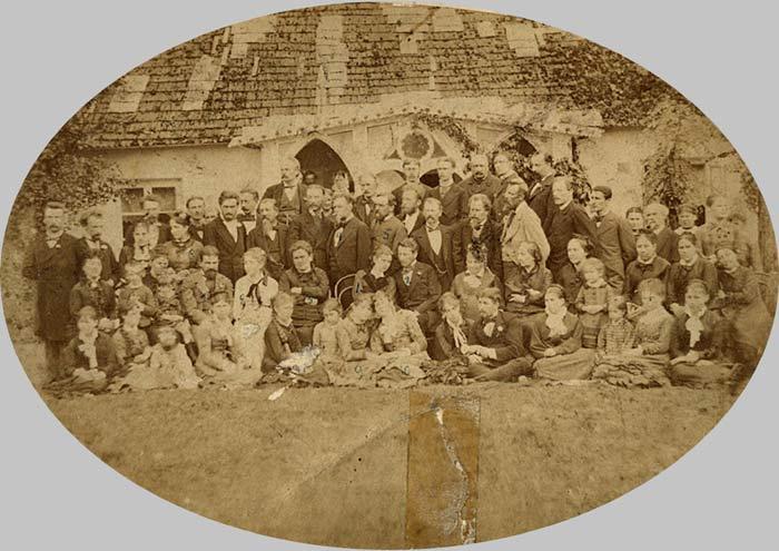 - Dwór Abłamowiczów. Wesele Józefy Abłamowiczówny z L.Borewiczem w Justjanowie (7/09/1879). Fot. z archiwum D. Abłamowicza