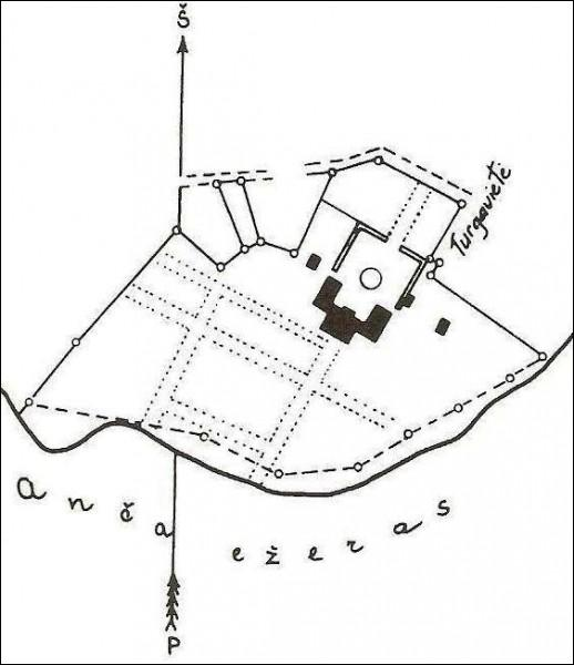 - Палац Агінскіх. План палаца, 1923 (у 1928 г. палац быў разабраны, застаўся адзін флігель)