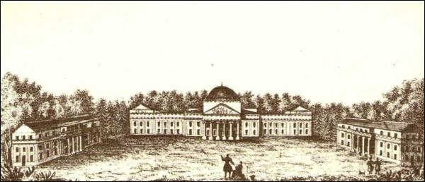 - Estate . The palace complex in Werki (Verkiai) (lithography by J. Ozemblowski, XIX century.)
