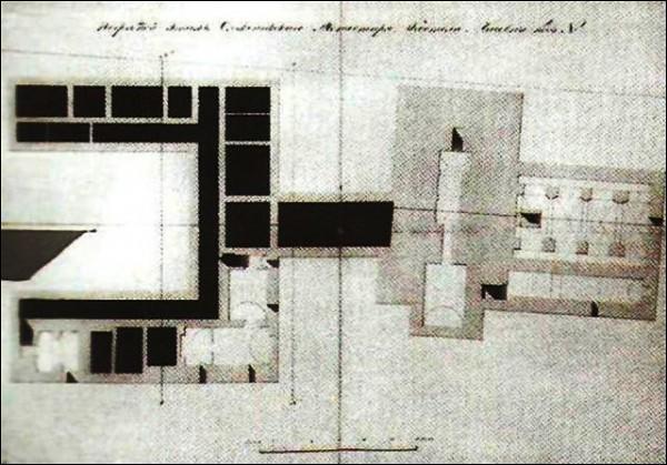 - Касцёл Найсвяцейшай Панны Марыі і кляштар францысканаў. План падвалу, 1835