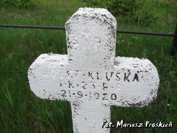 Hieniušy. Tomb of Polish soldiers died in 1920
