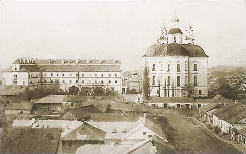 -  Jesuit College. Jesuit College and church. Postcard 1930th