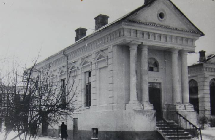 - Палац Бутрымовічаў. Палац у 1950-я. Фота з архіва М.С.Кацара.