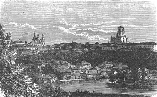 Магілёў | Горад на старых фотаздымках . Магілёў. Гравюра 19 ст.